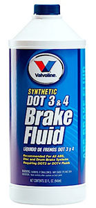 Valvoline Dot 3 and 4 Brake Fluid